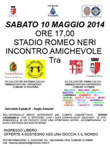 Incontro calcio Ravenna Rimini