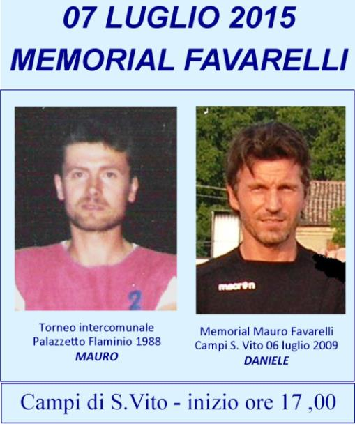 Memorial FAVARELLI 2015
