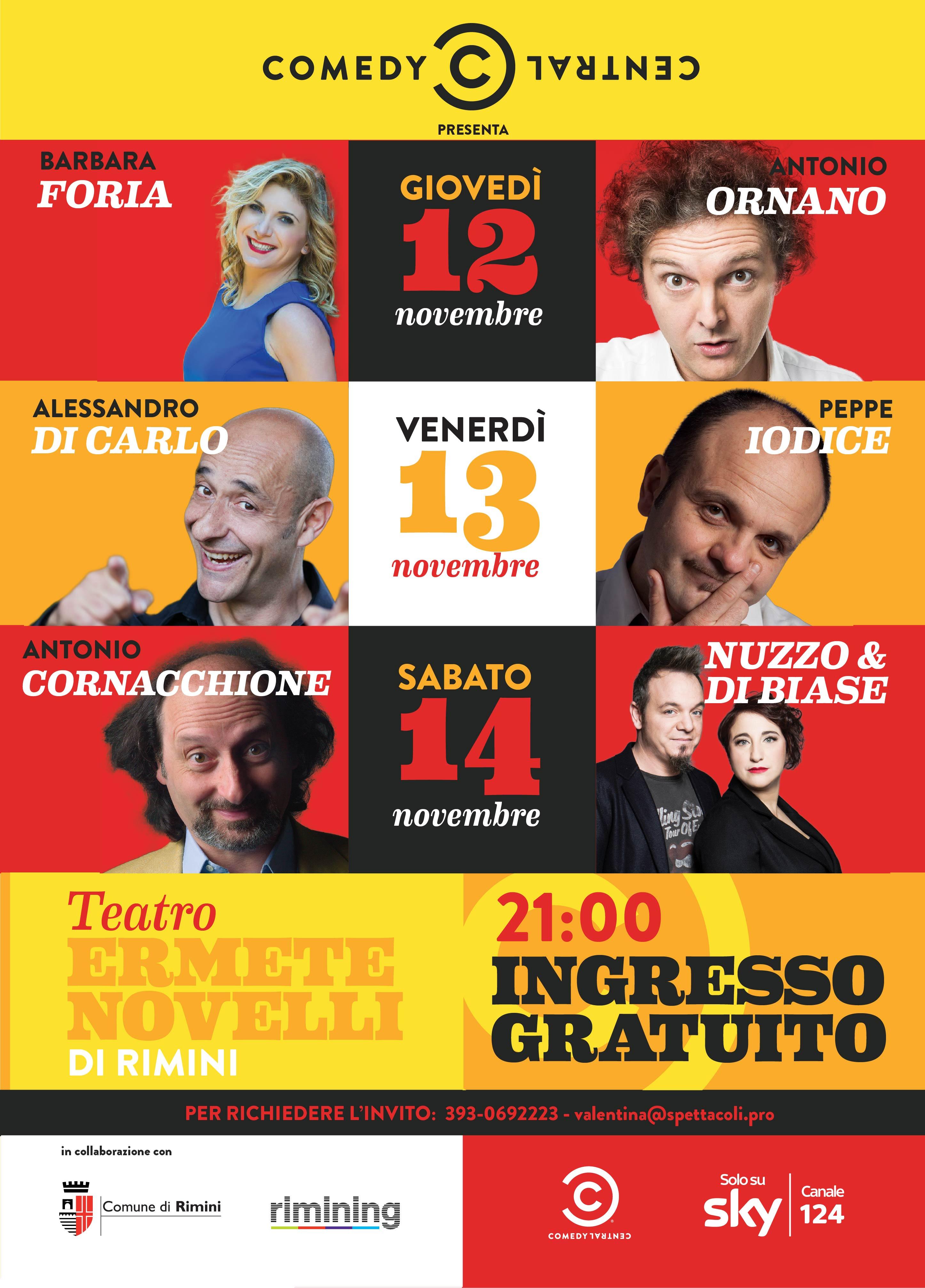 """""""Comici al Teatro Novelli – tre serate a ingresso gratuito su invito"""""""
