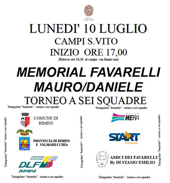 Memorial FAVARELLI 2017