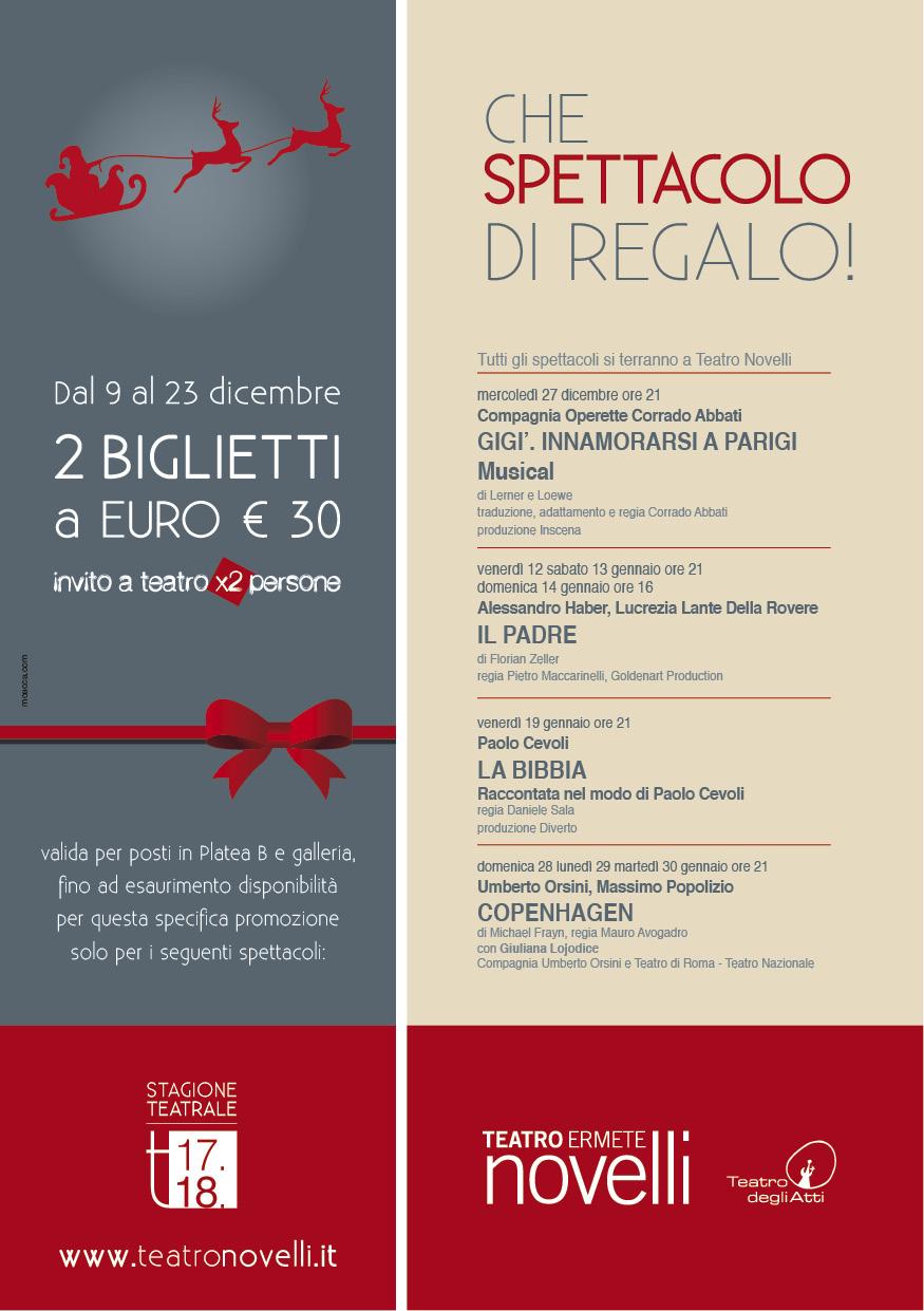 Promozione Natale Teatro Novelli