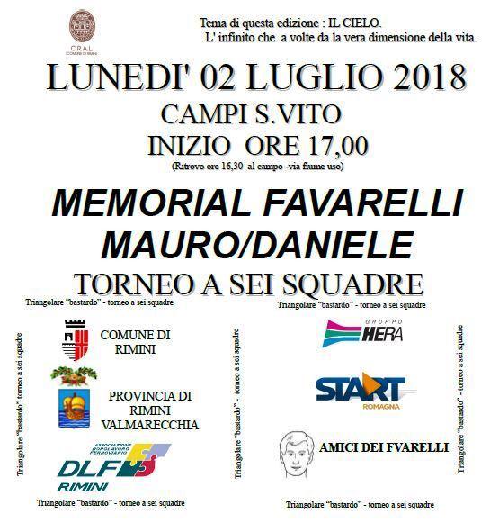 Memorial FAVARELLI 2018